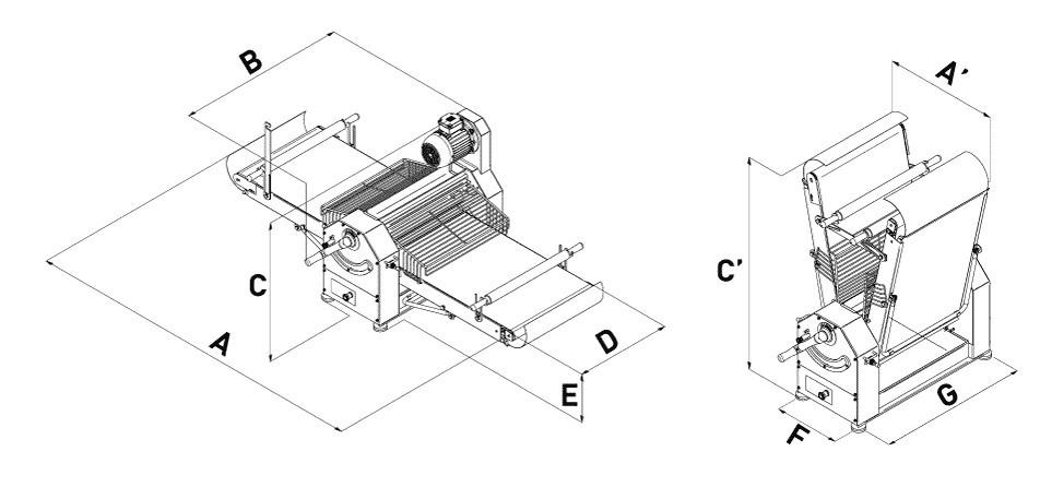 LAMINOIR SANS SOCLE 1600x480mm