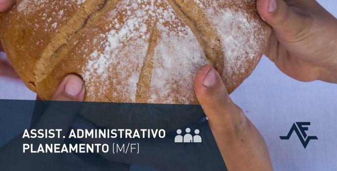 Vaga de emprego: assistente administrativo – planeamento (m/f)