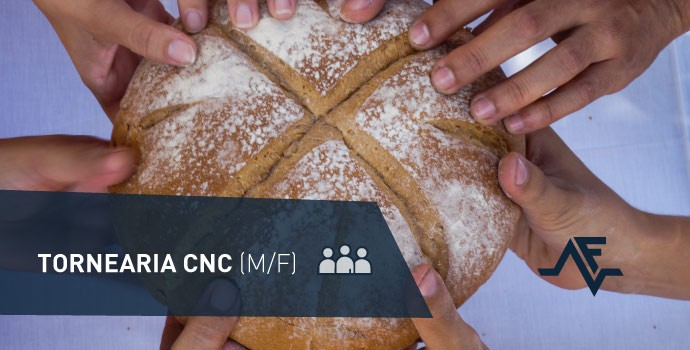 Vaga de emprego: tornearia CNC (m/f)